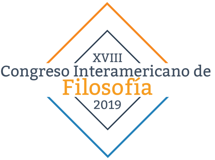 """logomarca do evento contém os dizeres """"XVIII Congreso Interamericano de Filosofía 2019"""""""