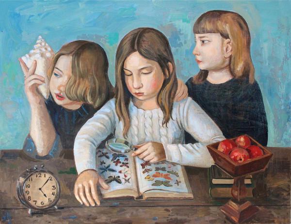 três crianças demonstrando curiosidade