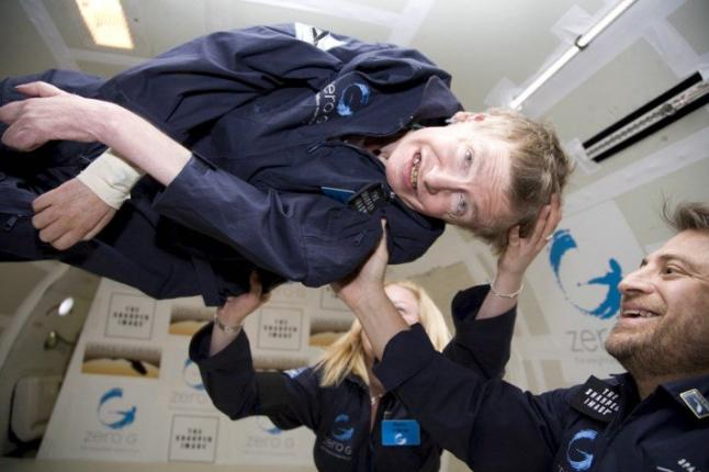 Stephen Hawking em gravidade zero