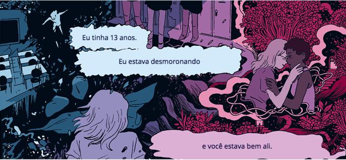 ilustração de mulher de costas as frases