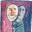 ilustração de uma pessoa triste segurando uma máscara feliz