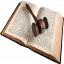 martelo de juiz sobre livro aberto