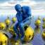 imagem de um pensador sobre esferas