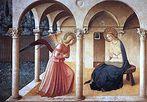 A Anunciação de Fra Angelico, 1437–1446. <br><br>Palavras-chave: Angelico, anunciação, luz, cor, sombra, arte cristã, representação, arte, estética, filosofia da arte