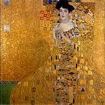 Gustav Klimt. Retrato de Adele Bloch-Bauer I, vendido em 2006 por 135 milhões de dólares. Neue Galerie, Nova Iorque.