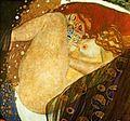 Gustav Klimt (Baumgarten, Viena, 14 de julho de 1862 — Viena, 6 de fevereiro de 1918) foi um pintor simbolista austríaco. <br> Em 1876 estudou desenho ornamental na Escola de Artes Decorativas. Associado ao simbolismo, destacou-se dentro do movimento Art nouveau austríaco e foi um dos fundadores do movimento da Secessão de Viena, que recusava a tradição académica nas artes, e do seu jornal, Ver Sacrum. Klimt foi também membro honorário das universidades de Munique e Viena. Os seus maiores trabalhos incluem pinturas, murais, esboços e outros objetos de arte, muitos dos quais estão em exposição na Galeria da Secessão de Viena.