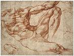 Michelangelo: Estudo para o Adão da Capela Sistina, c. 1510. Museu Britânico, Londres.