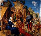 Na Itália, Albrecht Dürer mudou a sua técnica de pintura, primeiramente produzindo uma série de trabalhos em têmpera sobre tela, incluindo retratos e peças de altar, notadamente o Paumgartner e a Adoração dos Magos. <br><br> Palavras-chave: Dürer, renascimento, luz, cor, sombra, representação, arte, estética, filosofia da arte
