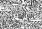 Mapa da Roma medieval representando o Coliseu.