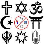 Há dezenas e mesmos centenas de religiões no mundo, contudo a ciência não é uma delas! A título de explicação têm-se alguns símbolos que representam as principais religiões na atualidade. Da esquerda para a direita: Linha 1: Cristianismo, Judaísmo, Hinduísmo Linha 2: Islamismo, (ateismo), Xintoísmo Linha 3: Sikhismo, Bahai, Jainismo.