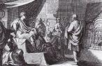 Vitrúvio (à direita) mostrando o &quot;De Architectura&quot; a Augusto. <br> Marcos Vitrúvio Polião (em latim, Marcus Vitruvius Pollio) foi um arquiteto romano que viveu no século I a.C. e deixou como legado a obra &quot;De Architectura&quot; (10 volumes, aprox. 27 a 16 a.C.), único tratado europeu do período greco-romano que chegou aos nossos dias e serviu de fonte de inspiração a diversos textos sobre Arquitetura e Urbanismo, Hidráulica, Engenharia, desde o Renascimento. <br> Os seus padrões de proporções e os seus princípios conceituais - &quot;utilitas&quot; (utilidade), &quot;venustas&quot; (beleza) e &quot;firmitas&quot; (solidez) -, inauguraram a base da Arquitetura clássica.<br><br>Palavras-chave: Vitrúvio, arquitetura, ciência, engenharia, da Vinci, estética, arte, filosofia