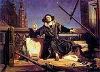 Astrônomo Copérnico: Conversa com Deus, por Jan Matejko. <br> <br> Palavras-chave: Nicolau Copérnico, astrônomo, matemático, teoria heliocêntrica, Sistema Solar, Heliocentrismo