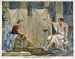 Aristóteles ensinando Alexandre, o Grande gravura de Charles Laplante<br> <br> Palavras-chave: ensinamento, educação, Alexandre, Aristóteles, Grécia Antiga, sabedoria, homem, sociedade, mundo, natureza, filosofia, teoria do conhecimento