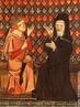 Pedro Abelardo (1079 – 1142) e Heloísa de Paráclito (1101 – 1164) no manuscrito Roman de la Rose, século XIV.  <br> <br> Palavras-chave: Abelardo, Heloisa, cristianismo, filosofia medieval