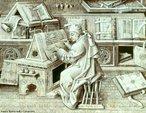 Scriptorium, literalmente, &quot;um local para escrever&quot;, é comumente usado para referir-se a um quarto nos mosteiros medievais europeus destinado aos monges copistas que, na época medieval, escreviam os manuscritos; ou seja, o scriptorium era um complemento da biblioteca. <br> Escritos, ruínas de construções e escavações arqueológicas mostram, no entanto, que ao contrário da crença popular tais salas raramente existiam: a maior parte da escrita monástica era feita em cabines como reentrâncias no claustro, ou nas celas dos próprios monges.