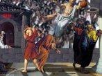 """ENTERRADA SOCRÁTICA - Terceira releitura da """"Morte de Sócrates"""" (1787) de Louis David (1748-1825)."""