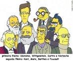 Immanuel Kant, Socrates, Ludwig Wittgenstein, Karl Marx, Roland Barthes, Jean Paul Sartre, Frederich Nietzsche, Michel Foucault